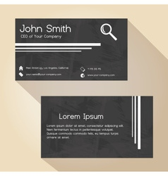 Black and white grunge paper simple business card vector