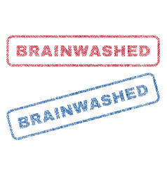 Brainwashed textile stamps vector