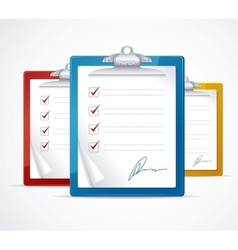 check list and signature vector image vector image