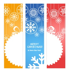 christmas banners Ready for a text vector image vector image