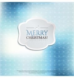 Christmas card with label on color background vector image vector image