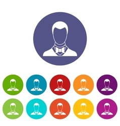 Groom set icons vector image