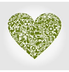 Heart the industry vector image