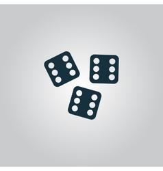 Lucky dices casino gambling game jackpot vector image vector image