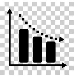 negative trend icon vector image