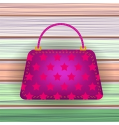 Pink modern womens handbag vector