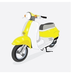 Retro scooter isolated from the background drawn vector