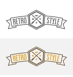 Retro Vintage Insignia or Logotype design vector image