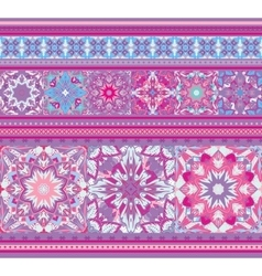 Rich ethnic seamless pattern geometric design vector