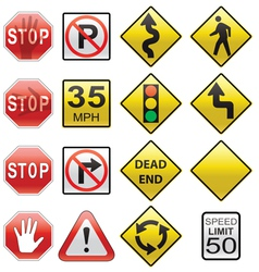 road signs vector image