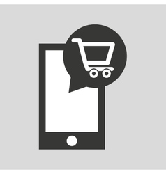 Smartphone app buy market online social media icon vector