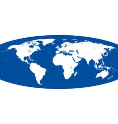 Spherical world map vector