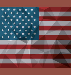 Usa flag american national symbol abstract vector