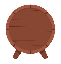 Wooden barrel on legs icon isolated vector