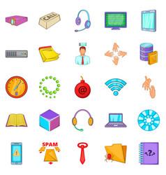 Workshop icons set cartoon style vector
