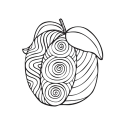 Adult coloring book page design vector