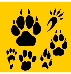 Footprints set - vinyl-ready vector