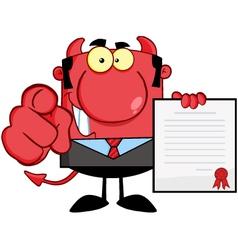 Smiling Devil Boss vector image
