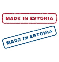 Made in estonia rubber stamps vector