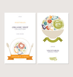 vintage vegetables vector image