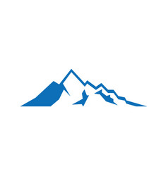 Mountain sign logo image vector