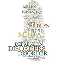 Mental health statistics text background word vector