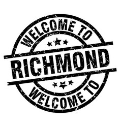 Welcome to richmond black stamp vector