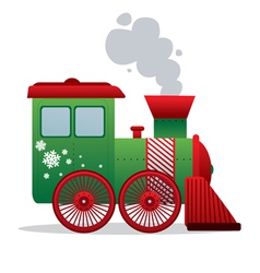 Christmas train isolated vector