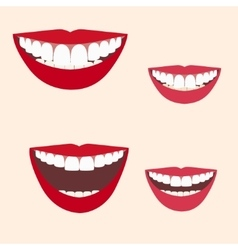 Collection of smiles vector
