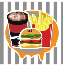 Beautiful set of fast food advertising menu vector
