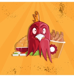 Fried chicken fast food vector