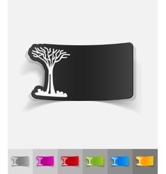realistic design element singapore tree vector image