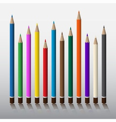 Twelve colored pencils vector