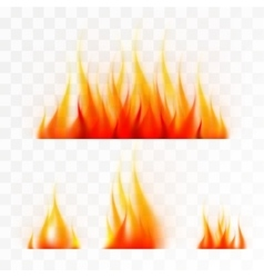 Set of isolated flames vector image