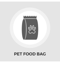 Pet food bag flat icon vector