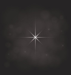 Abstract star magic light sky bubble blur dark vector