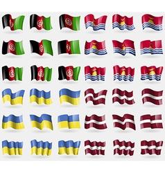 Afghanistan kiribati ukraine latvia set of 36 vector