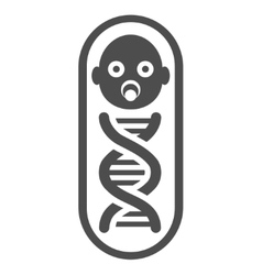 Baby genome flat icon vector