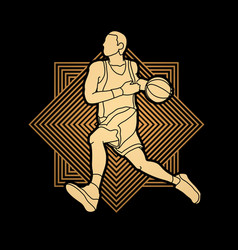 basketball player running vector image vector image