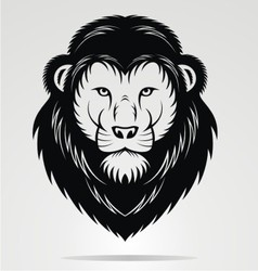 Black Lions Head Mascot vector image vector image