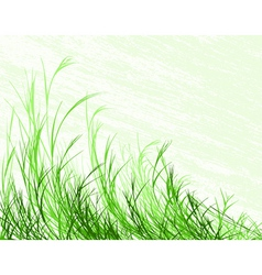 Blowing grass vector
