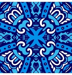 Blue and white tile design vector