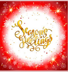 Bright christmas red greeting vector