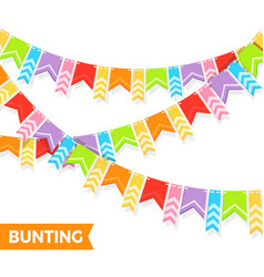 bunting colorful flags vector image vector image