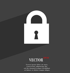 closed lock icon symbol Flat modern web design vector image