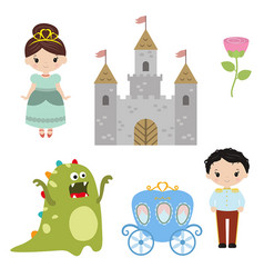 Collection of beautiful princesses collection of vector