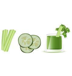 Cucumber juice vector image