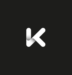 Letter k logo capital initial monogram vector