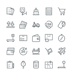 Logistic delivery cool icons 2 vector