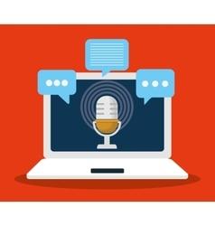 Microphone gadget sound design vector